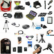 30 Pc Pro Accessory Kit For Canon Powershot G7x Mark Ii Light Filter Case Charge
