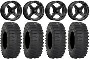 Msa Black Cross 15 Utv Wheels 33 Xt300 Tires Polaris Rzr Xp 1000 / Pro Xp