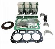 For Ford Nh Tc30 Tc33 Tc33d Compact Tractor Engine Rebuild Kit .50mm Piston