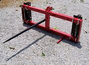 New Tri Universal Mount Loader Front Bale Spear-free 1000 Mile Delivery From Ky