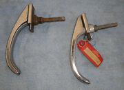 1942 1946 1947 Ford Car - Two Gen Ford Outer Door Handles - One New And One Used