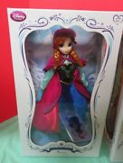 New Disney Store Frozen Princess Anna 17 Doll Limited Edition 5000 Mip