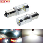 2pcs Bay9s H21w Cree Chips Car Indicator Side Wedge Dome Map Light Bulb 12v Dc