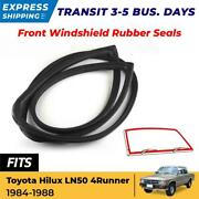 Front Windshield Rubber Seals For Toyota 1984-1988 Hilux 4-runner Ln50 Pickup