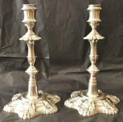 Rare Beautiful Pair Of Antique Silver Candlesticks 1753 And 1754 Jq
