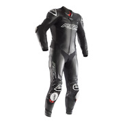 Rst Race Dept V4 Black Kangaroo Leather Motorbike 1pc Racing Track Day Suit