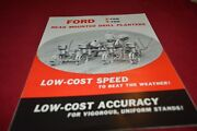 Ford Tractor 2, 4 Row Drill Corn Planter Dealers Brochure Amil15
