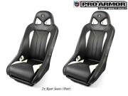 Pro Armor G2 Racing Bucket Seat Real Sturdy Comfortable Pair 2xp141s190wh White