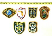 Lot Of 6 Vintage Florida Police And Sheriff Patches Marion Dade Fort Pierce Fl