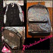 Nwt Victorias Secret Pink Backpack Bling Campus Sequins Full Size Rare