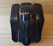 6extended Bags/fender With Plain Lids For Harley Davidson Touring 94-2007