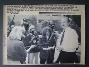 Ap Wire Press Photo 1992 Peter Ueberroth Meets With Media Bring Jobs To La