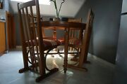 Antique Wooden Chairs And Table