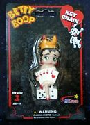 Betty Boop In Crown Las Vegas Style Playing Cards And Dice Key Chain 2004