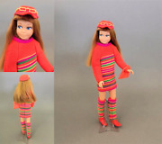 Vintage Skipper Barbie's Sister Dolls, Clothing And Accessories Display Ready