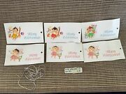 6 New Vintage Kathe Wohlfahrt Merry Christmas Gift Tags Wooden Doll Rare