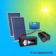 Complet 220v Installation Solaire + Piles 280ah 500w Panneau 2000w Camping Watt