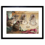 Helen Beatrix Potter The Mice Sewing The Mayors Coat Framed Art Print 9x7 Inch