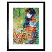 Painting Cassatt Profile Lydia Old Master Framed Picture Art Print 9x7 Inch