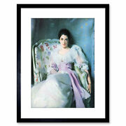 Painting Sargent Lady Agnew Old Master Framed Picture Art Print 9x7 Inch