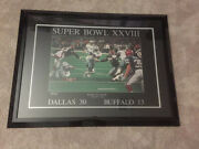 Super Bowl Xxviii 28 Lithograph Poster 1/30/94 Back To Back Framed Emmitt Smith