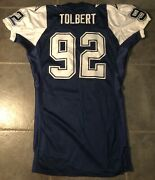 Dallas Cowboys Tony Tolbert Game Issued 1994 Apex Jersey Size 52 L Double Star