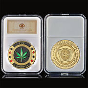 Poker Chip Casino Pot Committed Challenge Gold Coin Lucky Token Coin Collection