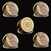 5pcs Poker Chip Entertaining I'm A Donk Casino Poker Guard Token Coin Collection