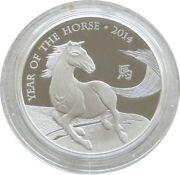 2014 Royal Mint British Lunar Horse Andpound2 Two Pound Silver Proof 1oz Coin Box Coa
