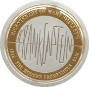 2018 Mary Shelley Frankenstein Piedfort Andpound2 Two Pound Silver Proof Coin Box Coa