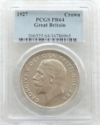 1927 Royal Mint George V Silver Proof Wreath Crown Coin Pcgs Pr64
