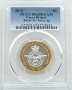 2018 Royal Mint Royal Air Force £2 Two Pound Silver Proof Coin Pcgs Pr69 Dcam