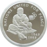 1995 Afghanistan United Nations 50th Anniversary 500 Afghanis Silver Proof Coin