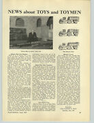 1929 Paper Ad Article Major Segrave Joins Ives Toy Train Flapper Girl Doll