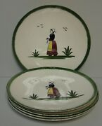 Edwin Knowles Normandy Dinner Plate Women Design Set Of Five Plates