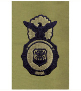 Vanguard Air Force Embroidered Identification Badge Security Police - Abu