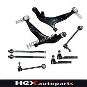 8pc Front Suspension Kit Control Arm Sway Bar Tie Rod For 2004-2009 Nissan Quest