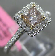 Estate .80ct White And Chocolate Fancy Diamond 18kt 2 Tone Gold 3d Engagement Ring