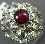Antique Large 1.02ct Diamond And Aaa Star Sapphire 14kt White Gold 3d Ring 25346