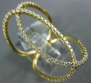 Estate Extra Large .55ct Diamond 18kt Yellow Gold 3d Oval Love Knot Fun Ring