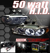 For 92-95 Honda Civic 2/3dr Halo Projector Headlight+hid 6k Smoke Cx Dx Ex Si Vx