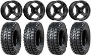 Msa Black Cross 15 Atv Wheels 33 Chicane Rx Tires Sportsman Rzr Ranger