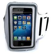 White Armband Sports Gym Workout Cover Case Arm Strap U5w For Smartphones