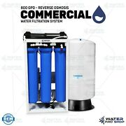 800 Gpd - Reverse Osmosis Commercial Water Filtration System + 20 Gallon Tank