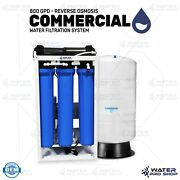 800 Gpd - Reverse Osmosis Commercial Water Filtration System + 40 Gallon Tank