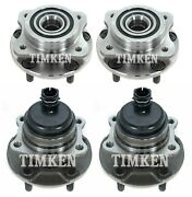 Front And Rear Wheel Bearing And Hub Assembly Kit Timken For Voyager Caravan Fwd