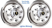 19.5 Hino 258 8 Lug 4 Hole Wheel Simulator Rim Liner Hubcap Covers Two Front Andcopy