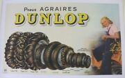 Poster Antique Original Tire Dunlop Agrarian Agricultural Tractor Tyre Tractor