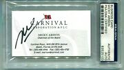 Signed Business Card Micky Arison Took Cruise Ine From 2 Ships To Over 100