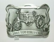 Ih International Farmall F20 Tractor Toy Collector 2003 Pewter Belt Buckle 2nd